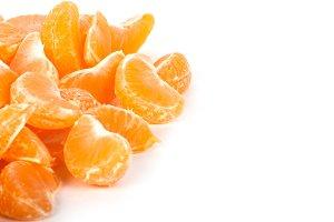 Fresh ripe slice tangerine
