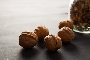 Nuts of walnut