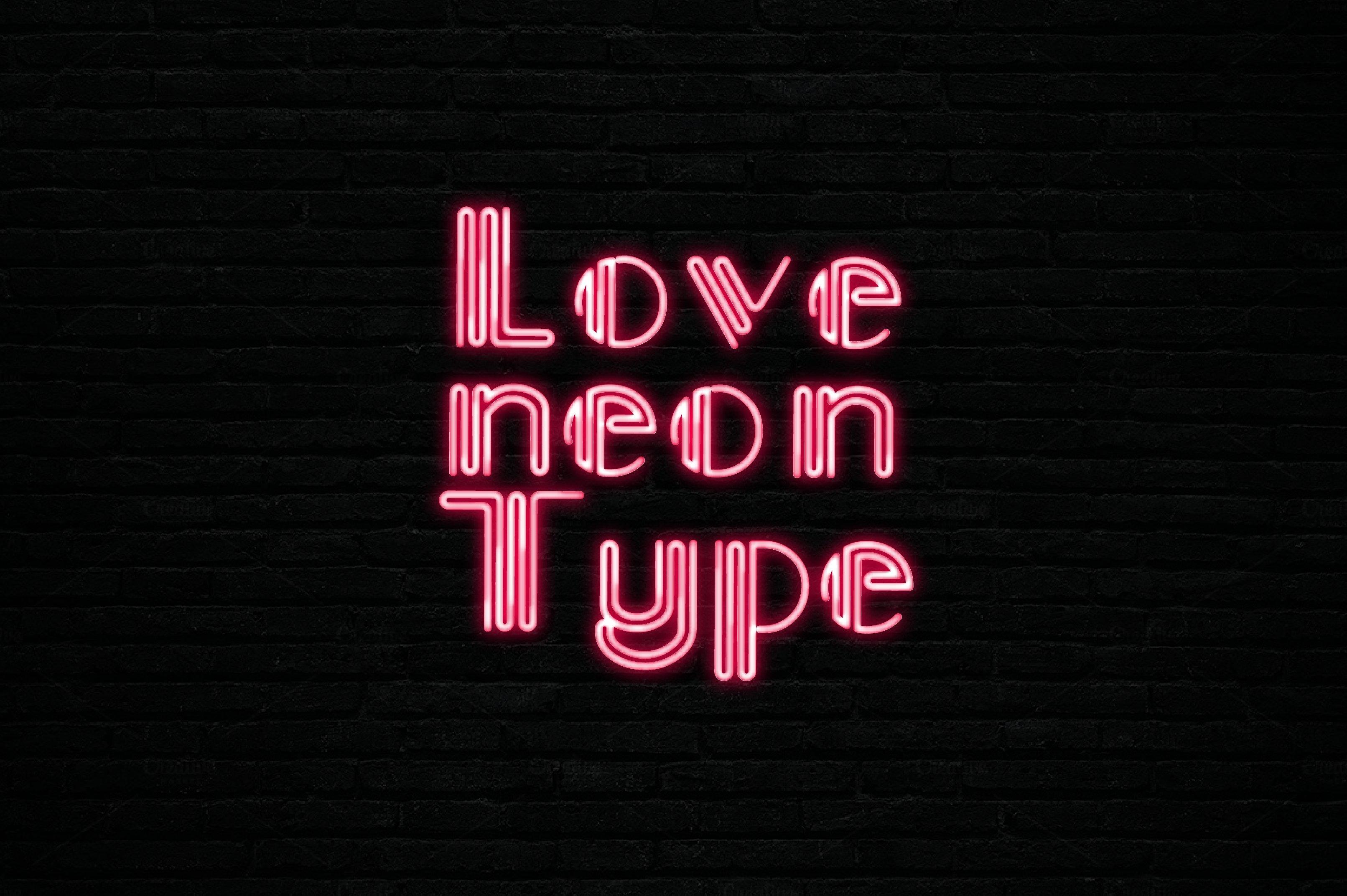 Neon font script fonts creative market altavistaventures Image collections