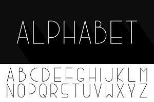 Simple minimalistic english alphabet