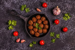 Roasted meatballs