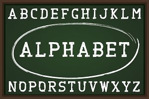 Grunge letters - english alphabet.