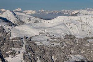 Kitzbuhel winter landscape