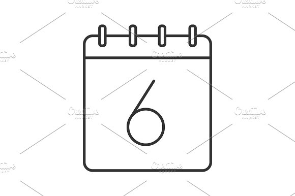 Sixth Day Of Month Linear Icon