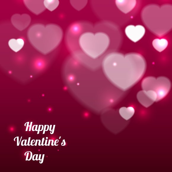 Happy Valentines Day Background Illustrations Creative Market