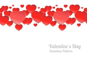 Valentines day seamless background