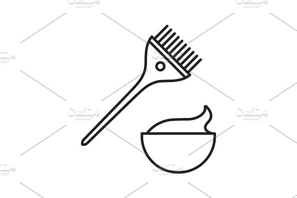 Hair dyeing kit linear icon in Icons