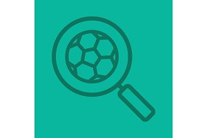 Football game search linear icon