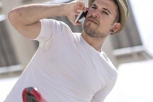 Urban man calling