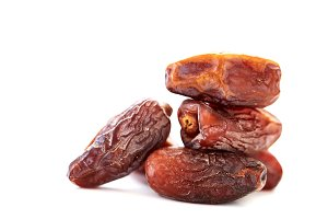 Fresh dates over white Background