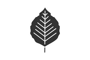 Poplar leaf glyph icon
