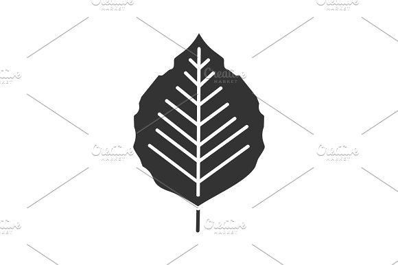 Poplar Leaf Glyph Icon