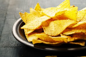 Nachos corn chips