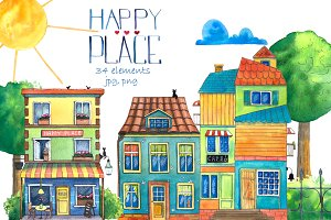 Happy Place Watercolor Set