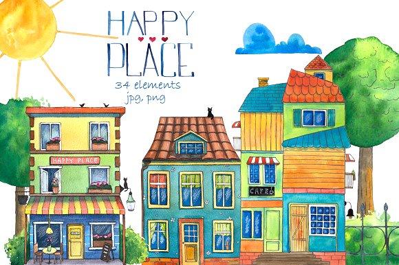 Happy Place Watercolor Set