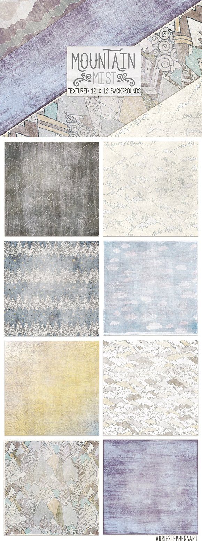 Mountain Mist Digital Paper Textures