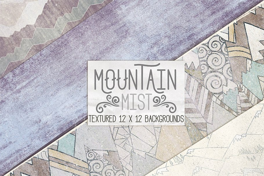 Mountain Mist Digital Paper Textures in Patterns - product preview 8
