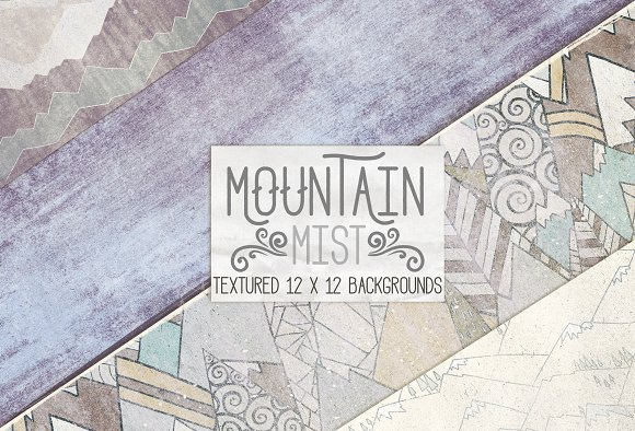 Mountain Mist Digital Paper Textures in Patterns - product preview 2