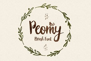 Peomy Extended Font & Illustrations