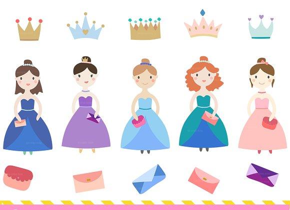 Little Princesses Clipart
