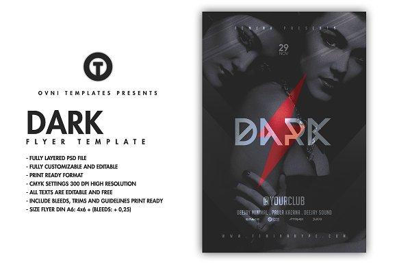 DARK Flyer Template-Graphicriver中文最全的素材分享平台