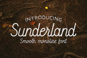 Sunderland - Smooth script font