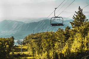Cableway over Altai mountains
