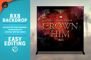 Crown Him 8x8 Backdrop