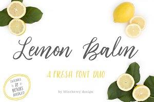 Lemon Balm Font Duo + Extras!