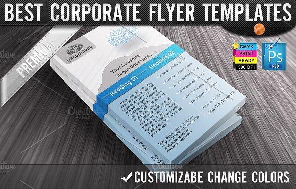 QR Codes 3D Clouds Business Flyers Flyer Templates Creative Market