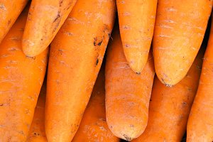 Carrots in the market