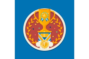 Winner cup Icon.Trophy cup. Vector illustration