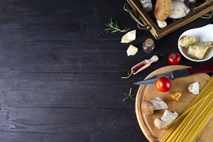Italian food, spaghetti recipe ingredient