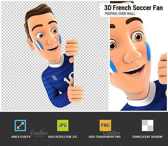 3D French Soccer Fan Peeping