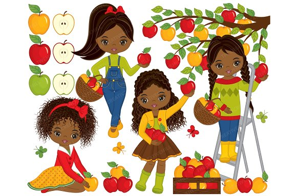 Vector Apples Clipart