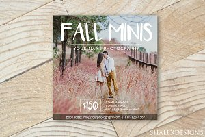 Fall Mini Sessions Template