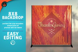 Thanksgiving 8x8 Backdrop