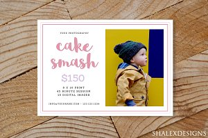 Cake Smash Mini Sessions Template
