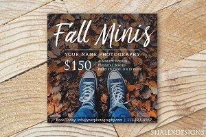 Fall Mini Sessions Template