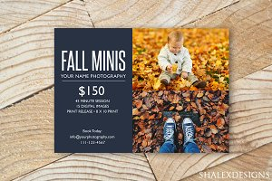 Fall Minis Sessions Template