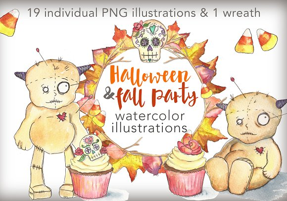 Halloween and Fall Party Graphics