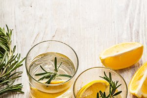 Rosemary lemonade cocktail drink