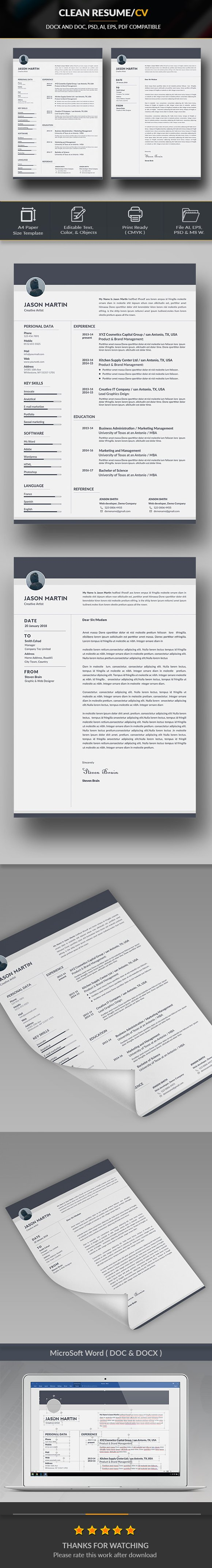 How Make A Resume Excel Clean Resume  Resume Templates  Creative Market Resume For Stay At Home Mom Returning To Work with Child Care Worker Resume Pdf  Problem Solving Skills Resume Pdf