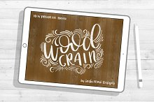 Wood Grain Lettering Procreate Brush