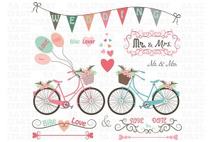 Wedding Bike Clipart