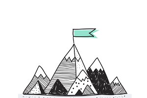 Vector of mountains