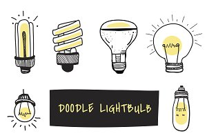 Vector of light bulbs