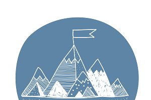 Vector of mountain