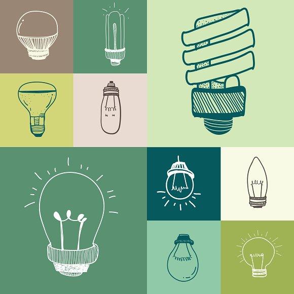 Vector Of A Set Of Lightbulbs