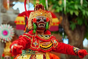 Balinese dancer in monkey mask